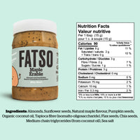 Fatso Maple Almond and Seed Butter Keto Friendly on SwitchGrocery