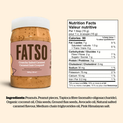 Fatso Crunchy Salted Caramel High Performance Peanut Butter