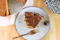 Baking Good Dee's Yellow Cake with sugar free chocolate frosting on SwitchGrocery Canada
