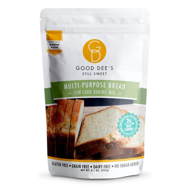 Good Dee's Sugar Free Multi Purpose Low Carb Bread Mix Front on SwitchGrocery Canada