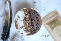 Make delicious smoothies with Philosophie Cacao Magic Superfood Protein