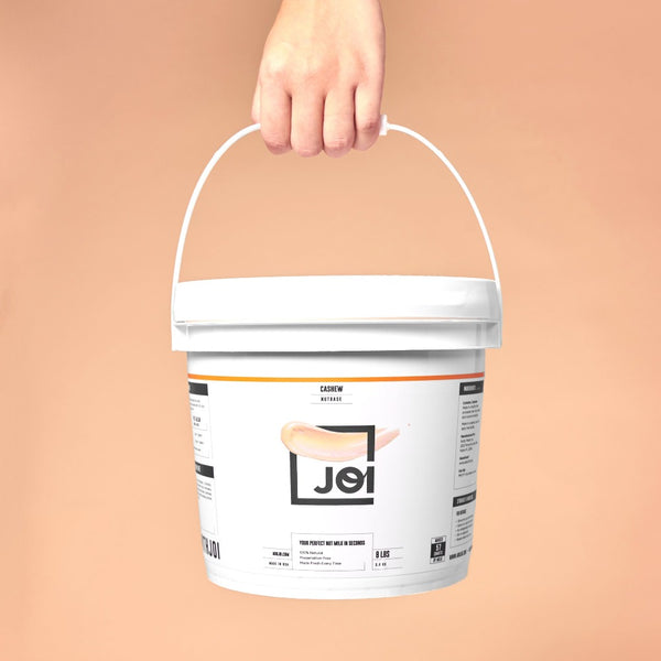 JOI Cashew Nut Milk Base pail in use on SwitchGrocery