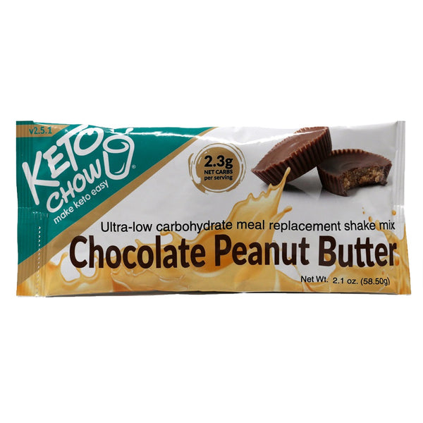 Keto Chow Chocolate Peanut Butter Shake single serving on SwitchGrocery Canada