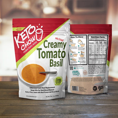 Keto Chow - Creamy Tomato Basil Soup (21 serving bag)