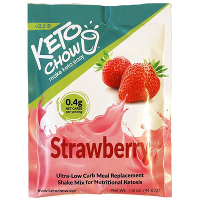 Keto Chow - Strawberry Shake (Single Serving)