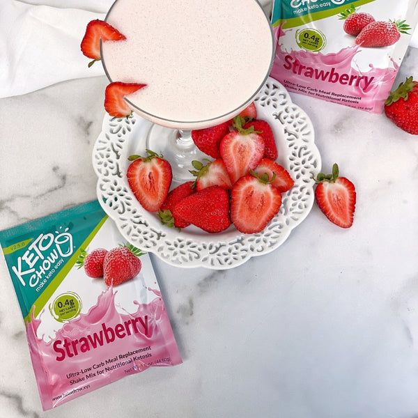 Keto Chow Strawberry Single Serving on SwitchGrocery