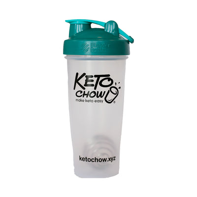 Keto Chow 28oz Classic Blender Bottle (mixed colours)