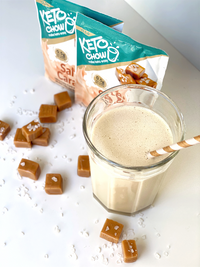 Keto Chow Canada Salted Caramel sample pack shake on SwitchGrocery Canada