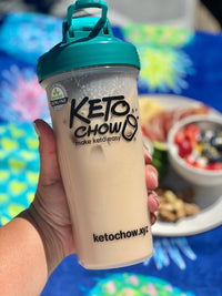 Keto Chow Canada Salted Caramel sample pack shaker bottle on SwitchGrocery Canada