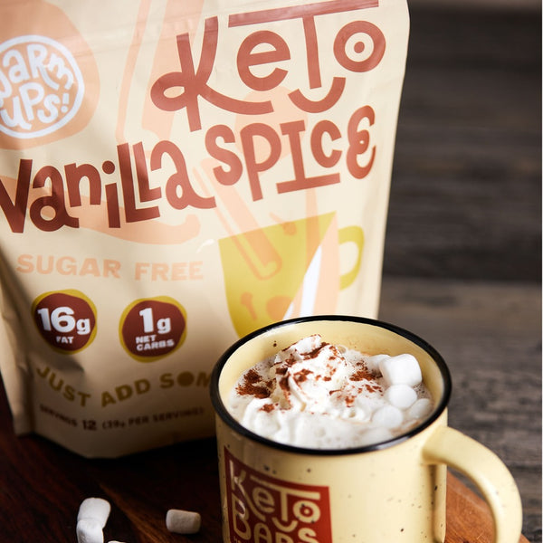 Keto Bars Keto friendly vanilla spice warm up hot drink on switchgrocery