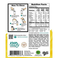 Keto Chow Canada Banana Shake Sample Nutrition on SwitchGrocery Canada