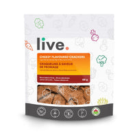 Live cheesy flavoured crackers grain free gluten free on SwitchGrocery