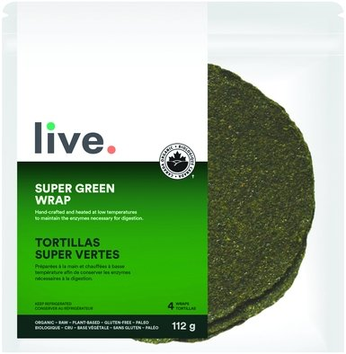 live. Super Green Wraps