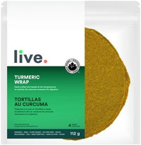 Shop Live Organic Turmeric Wrap Vegan Low Carb and Keto friendly available on Switch Grocery Canada