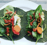 Low Carb Tortilla wrap with Keto Friendly Vegan Live Organic Super Green Wraps available on Switch Grocery Canada
