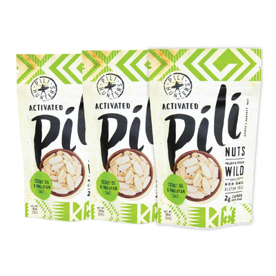 Pili Hunters -  3 Pack - Coconut Oil & Himalayan Salt Pili Nuts - 1.85oz