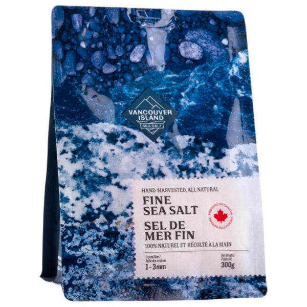 Vancouver Island Sea Salt fine salt bag on SwitchGrocery Canada