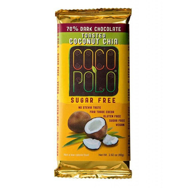 SwitchGrocery Coco Polo Toasted Coconut and Chia - 70% Dark Chocolate