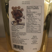 back of package - Coco Polo low carb milk chocolate baking buttons on SwitchGrocery Canada