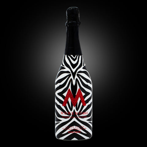 "Swarovski® ""M"" Zebra Rose Privé (Red Swarovski® M, Black Capsule)"