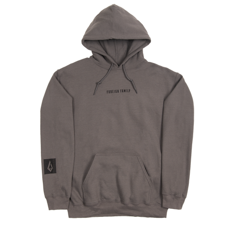 Foreign Family Embroidered Hoodie - Slate