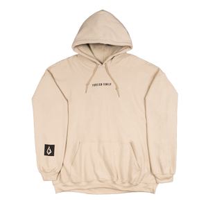Foreign Family Embroidered Hoodie - Sand
