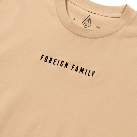 Classic Embroidered Tee - Tan