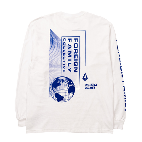 2019 Around The World Long Sleeve Tee - White