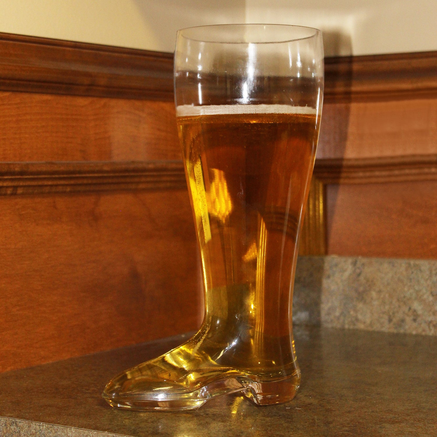 "Das Boot Beer Glass – 13"" Beer Boot Glass Tall Beer Glass, 2.5 L"