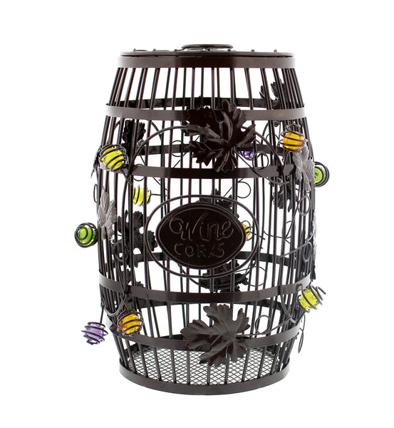 Wine Barrel Cork Holder – 100+ Wine Cork Collector Catcher Cage