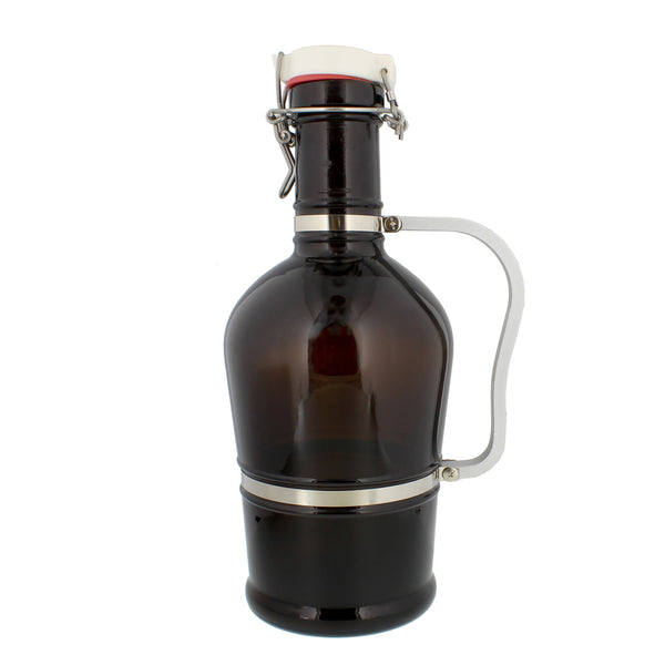 Amber Glass Growler – 2 Liter Beer Jug with Swing Lid