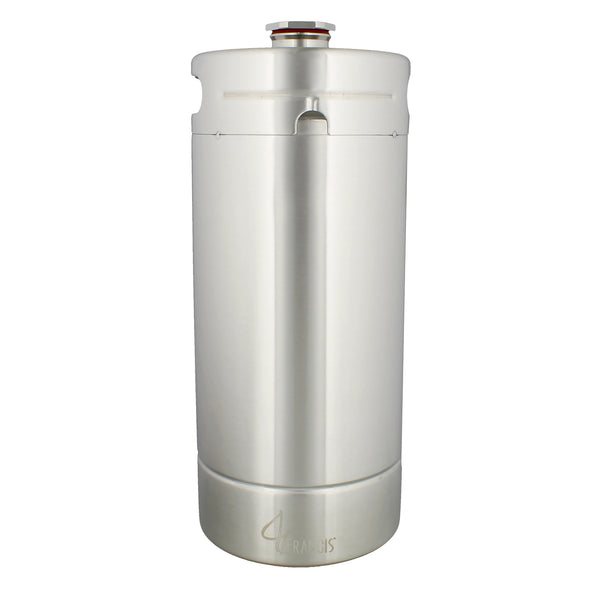 128 Ounce Stainless Steel Mini Keg - Draft Beer Growler Wine Keg
