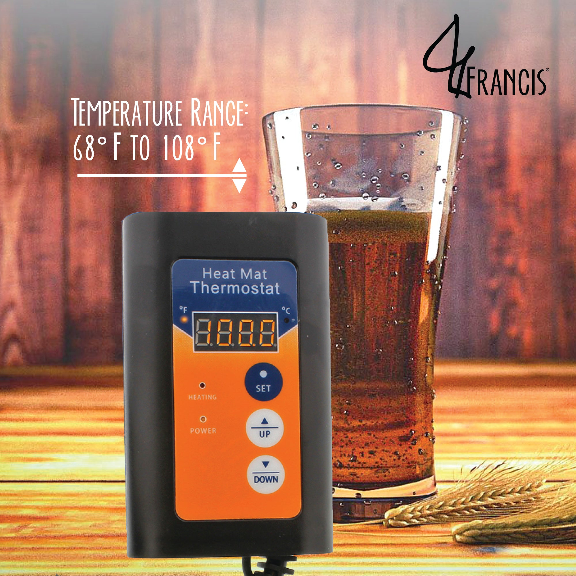 Fermentation Heating Thermostat & Probe � Kombucha, Beer, Wine Heat Controller