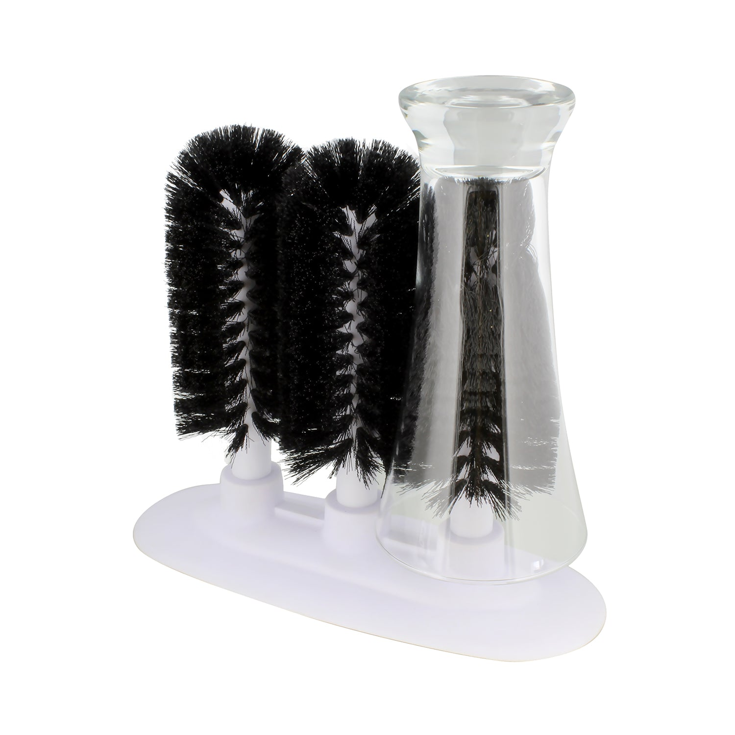 Glass Cleaning Brush � 3 Brush Glass Washer � Glass Rinser Cup Washer