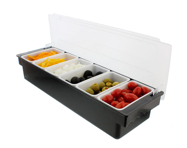Cooled Condiment Holder & Garnish Tray