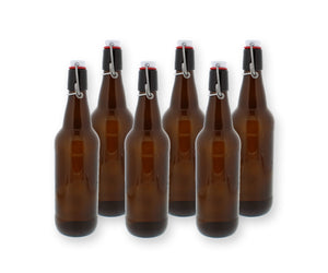 Amber Brewing Bottles - 16.9 oz - 6 Pack