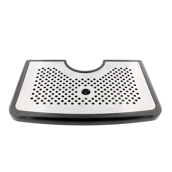 Bar Drip Tray – Stainless Steel and Plastic Tray Non Slip Rubber Grip