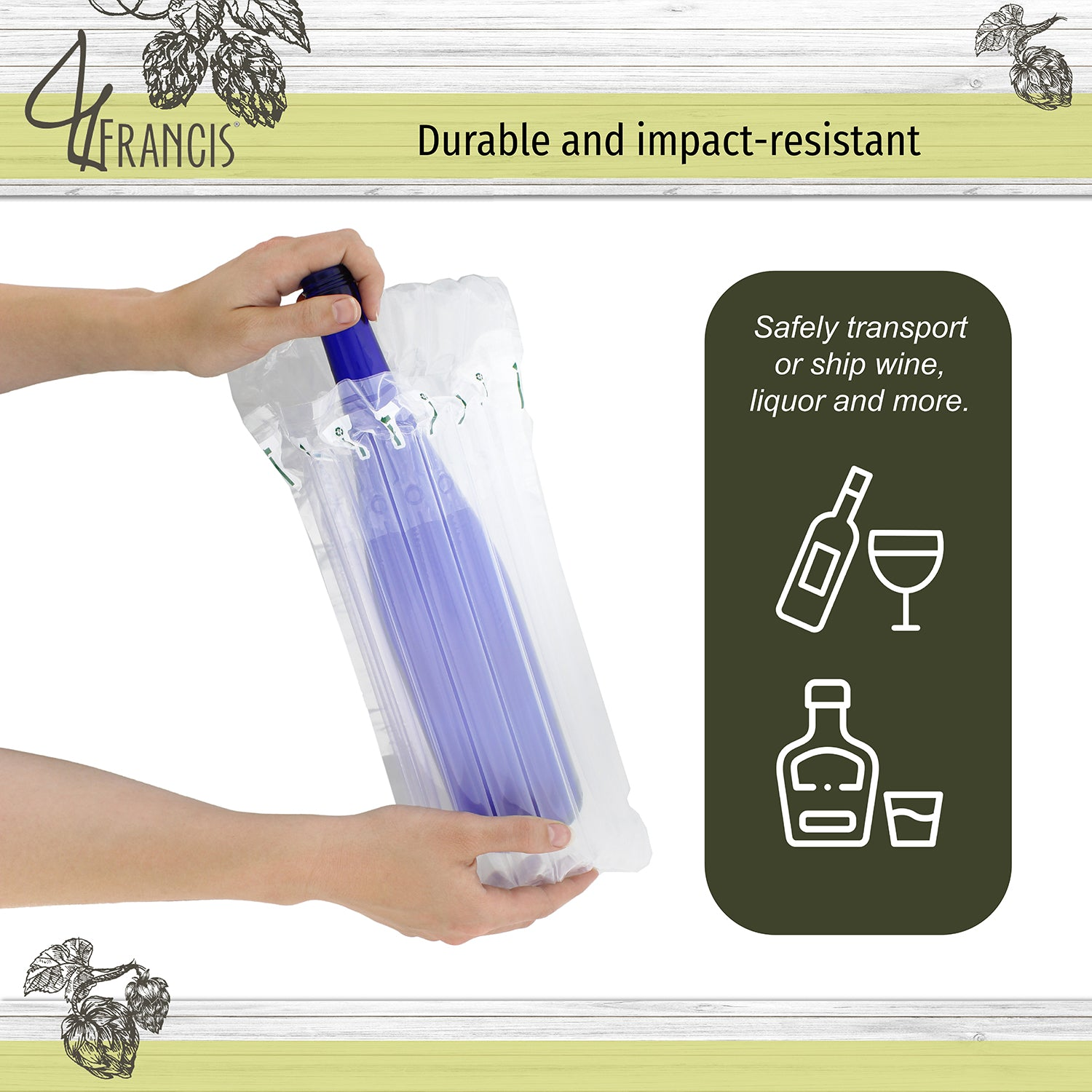 Wine Bottle Protector Replacements - 12pk Wine Bottle Air Column Bags