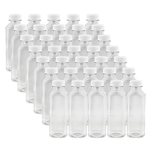 16oz Plastic Bottles with Caps Clear 35pk Empty PET Juice Containers