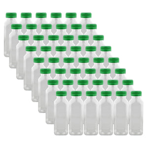 12oz Plastic Bottles with Caps Clear 48pk - Empty PET Juice Containers