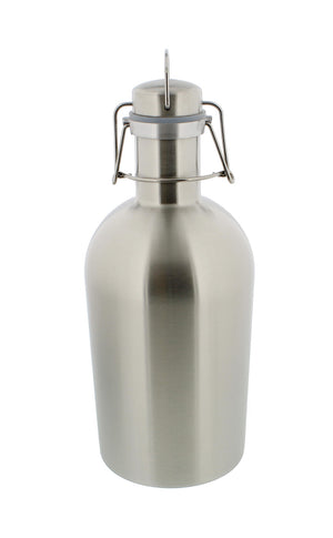 Beer Growler - 1.9 Liter, 64 Ounces - Stainless Steel