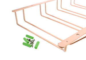 Wine Rack, Under Cabinet Stemware Holder in Copper