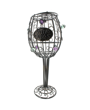 "Wine Glass Cork Holder – 12"" Inch, 45+ Cork Collector Catcher Cage"