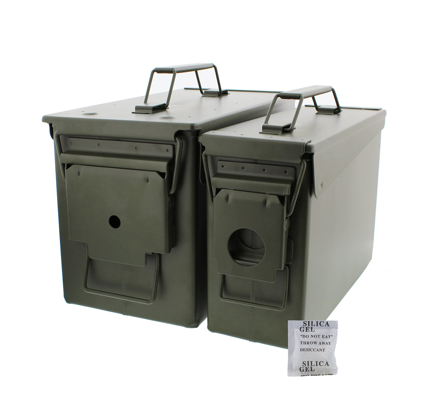 30 and 50 Cal Metal Gun Ammo Can 2-Pack Military Box Set Ammo Storage