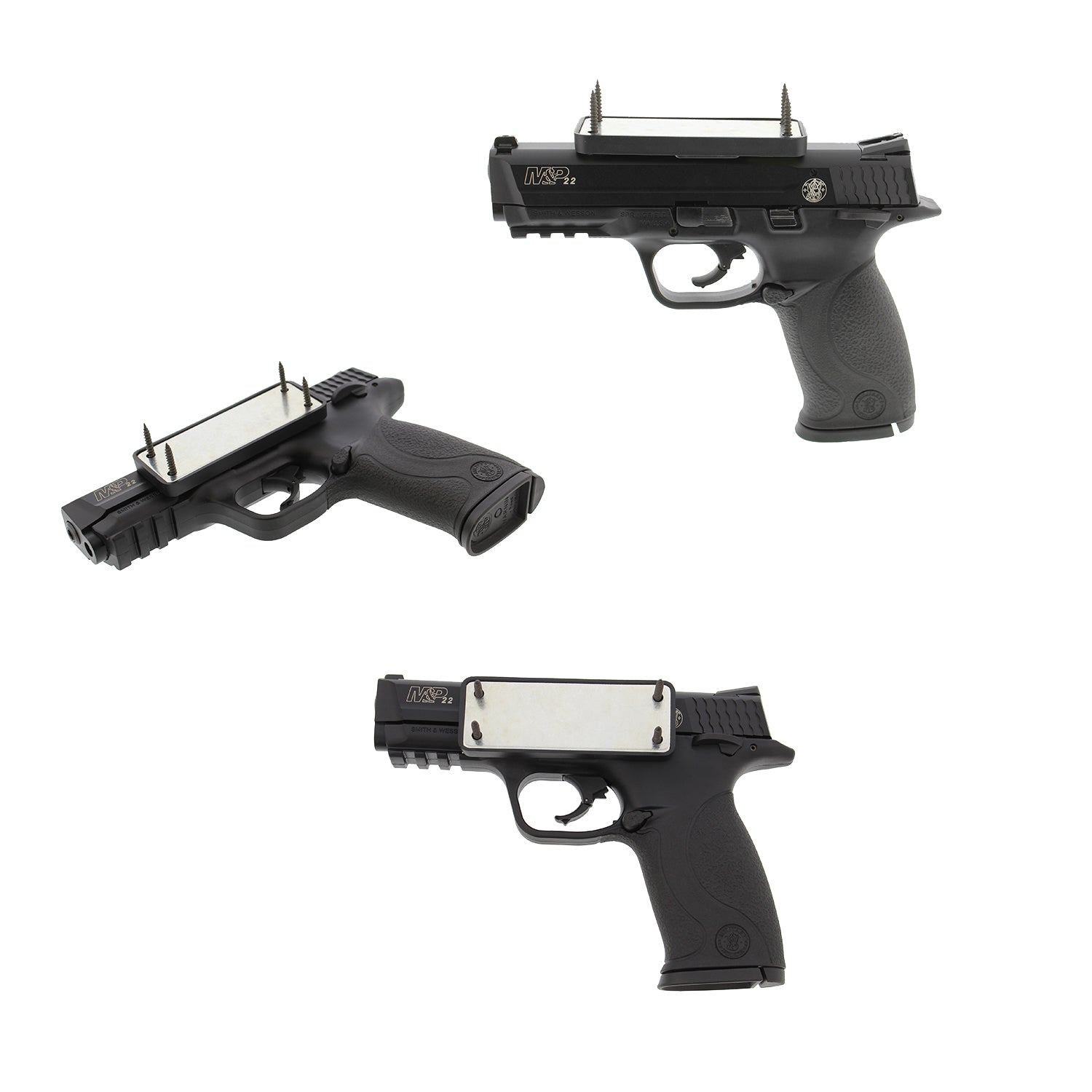 Gun Magnet 43 lbs Magnetic Rifle, Shotgun, Handgun Mount 2-Pack