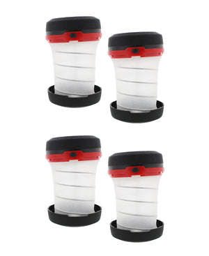 Multi Function Collapsible Camping Lantern 4-PACK in Red