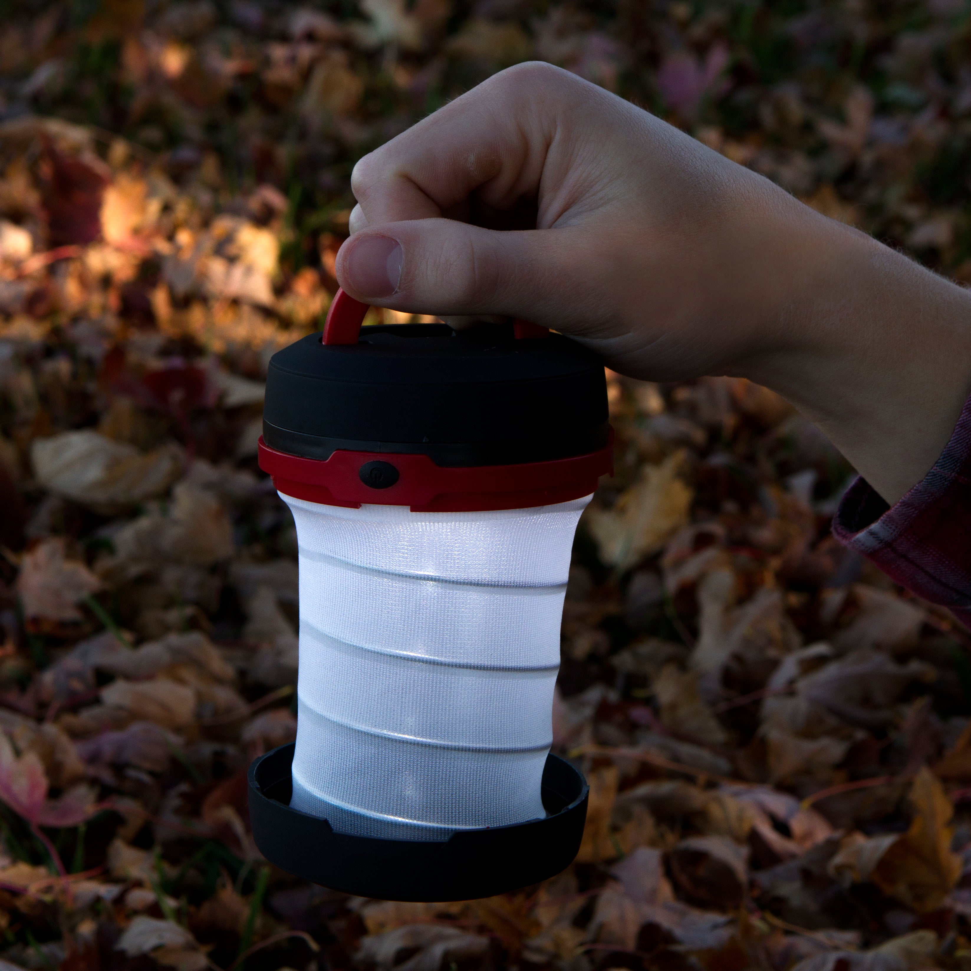 Multi Function Collapsible Camping Lantern 8-PACK in Red