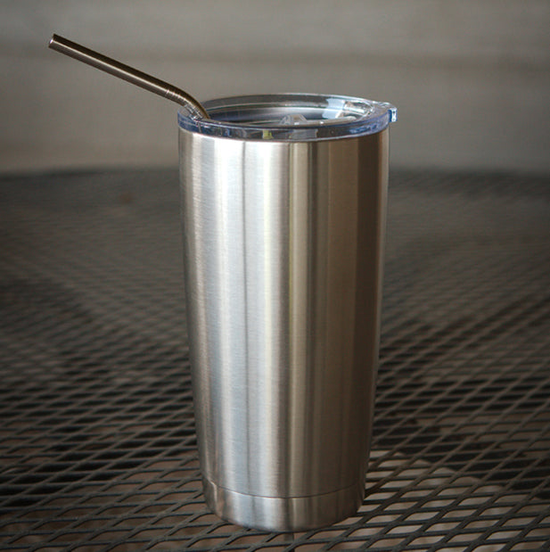 Stainless Steel Straws - Angled 5 Pack - Reusable, Dishwasher Safe