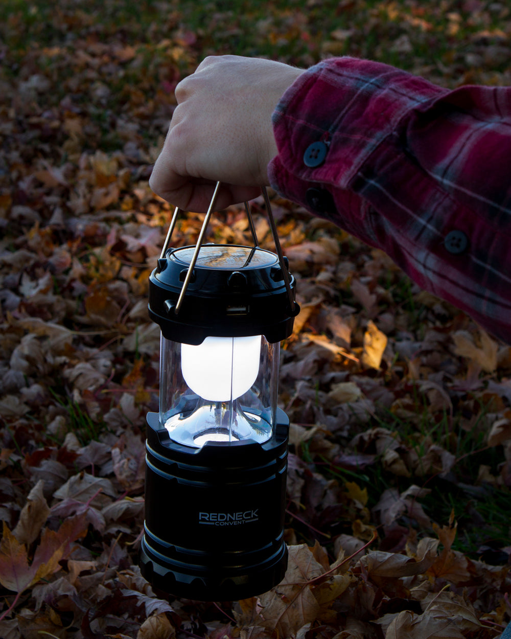 Solar-Powered LED Lantern 2-Pack Outdoor Camping Light