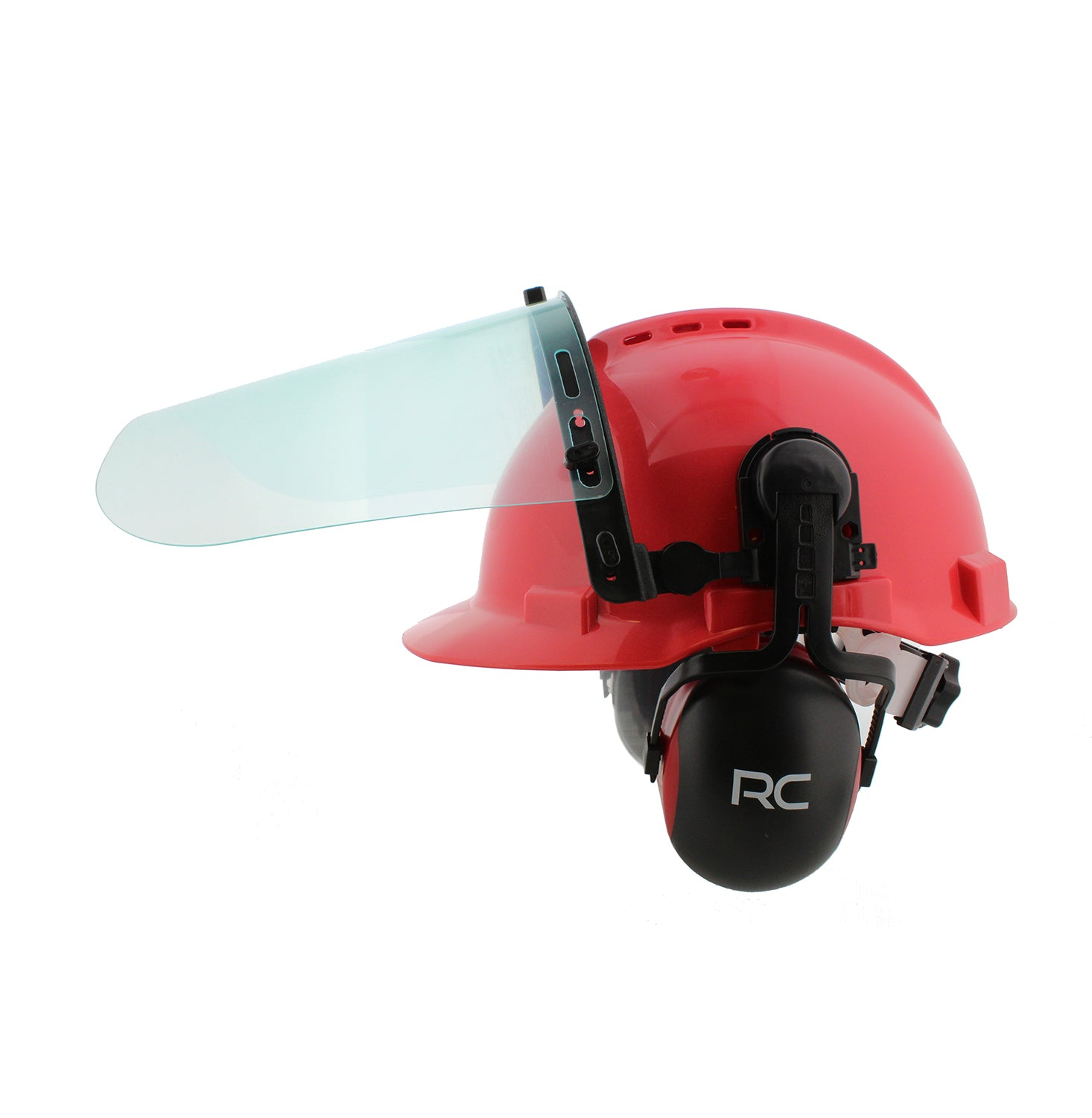 Forestry Safety Helmet � Vented Hard Hat with Visors and Earmuffs